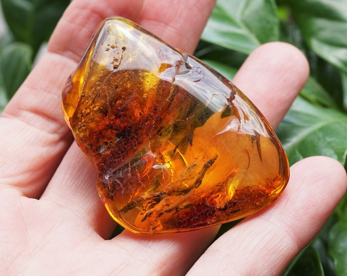 18,5g. Natural Baltic Amber Stone, Yellow Baltic Amber, Large Genuine Amber Stone
