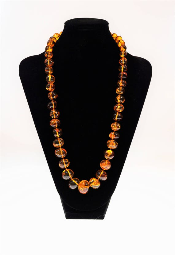 75g. Genuine Baltic Amber Necklace, Baroque Bead Necklace