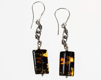 Natural Baltic amber earrings 3,6g