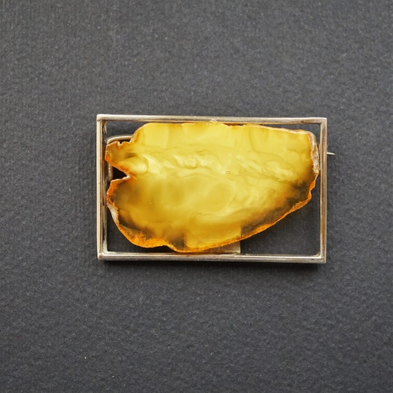 12,6g Baltic  Amber Brooch