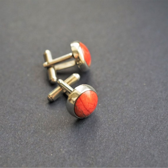 11g Red Jasper Cufflinks, Jasper Cufflinks, Men's Accessories