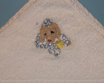 Baby Bath Towel / Puppy Towel / Child's Towel / Baby Accessories / Infant Bath Towels / Hooded Towels