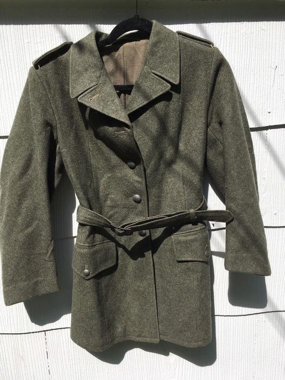 Men's wool military coat WW2 jacket 1940's  antiqu