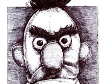 Bert And Ernie Print Etsy