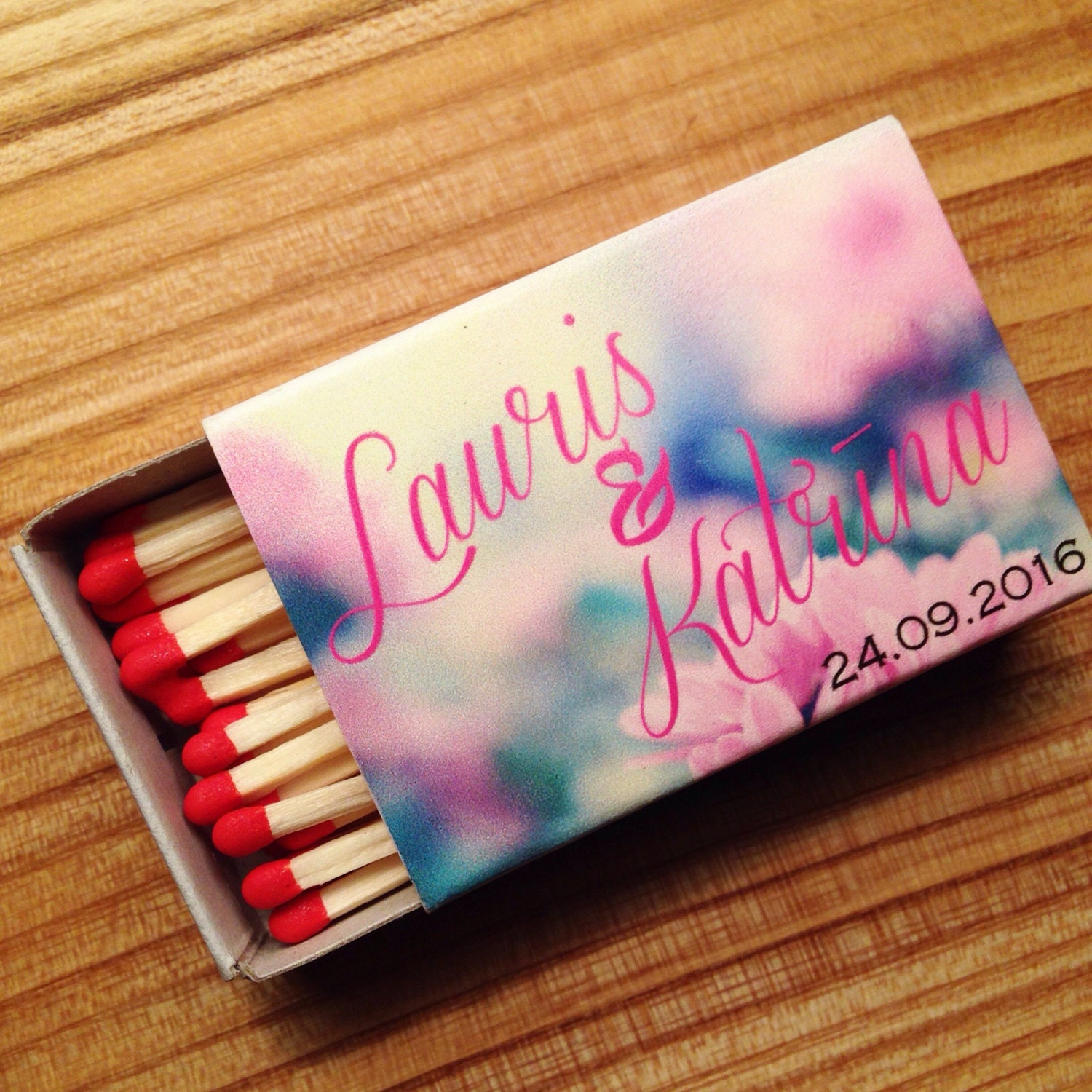 50 Custom Matchboxes Personalized Wedding Matchbox Photo