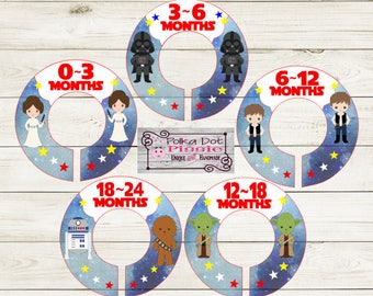 Space Kids Themed Baby Closet Organizing Dividers - Assembled