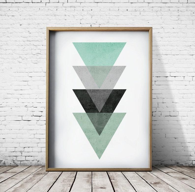 Verde stampa camera da letto arredamento camera da letto | Etsy