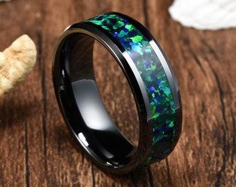 BLUE MATRIX opal in sandstone Australian Boulder Opal twinkling gemstone iron stone wood pattern pendant unisex wire wrapped gift present