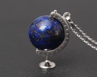 10 x Tibetan Silver Globe Pendant Charm Earth Planet