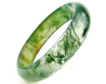 Chalcedony agate bracelet,agate bangle,solid gemstone bracelet,green agate,crystals,rocks,stone,gems,mineral,boho bracelet