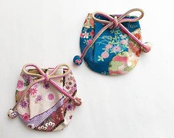 Japanese Drawstring Bag  - Japanese Traditional Drawstring Bag - Kinchaku Bag - Drawstring Pouch