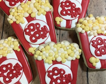 Popcorn Cookies, Movie Night, Party Favors