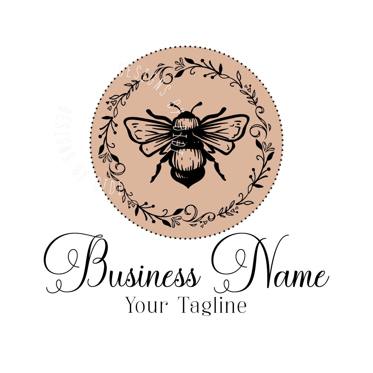 Custom Logo Design Bee Logo Vintage Boutique Logo Design Etsy