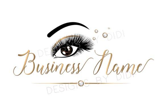 Custom Logo Lashes Logo Rhinestone Eyelash Logo Cosmetics