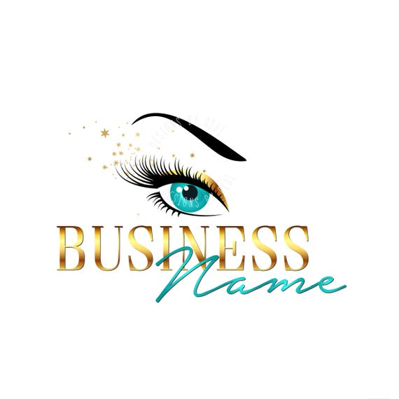 Custom logo, lashes logo, eyelash logo, cosmetics logo, gold eye lashes  logo, Lashes eye logo