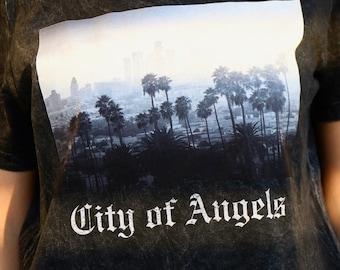 LA Black Tee   Los Angeles Shirt
