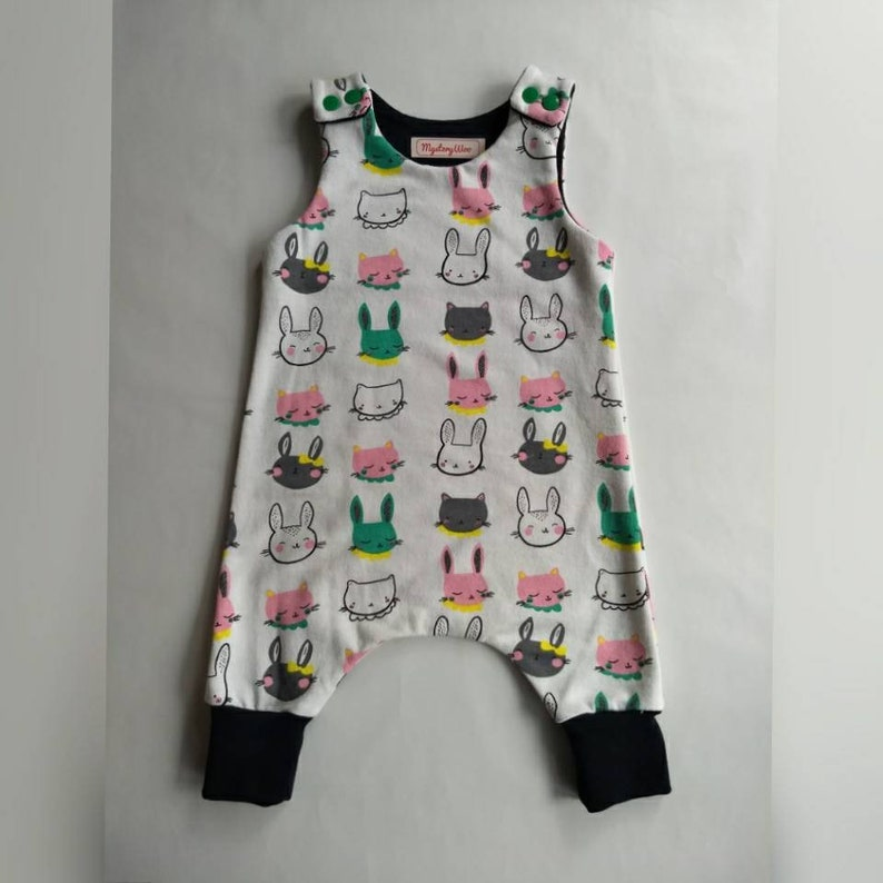 6cde5f353 Baby romper baby dungarees cats and rabbits baby clothes 0-3