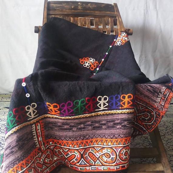 Indian vintage hand woven woollen Rabari embroider