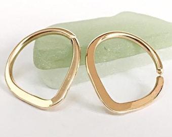 14g Nipple Rings Gold, Nipple Jewelry, Nipple Piercing Ring, Nipple Hoops, 14g Nipple Jewelry Ring, Nipple Piercing Hoops, Nipple Rings 14g
