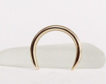 Septum Ring Silver Buffalo Horn Septum Horseshoe 14g Septum Etsy
