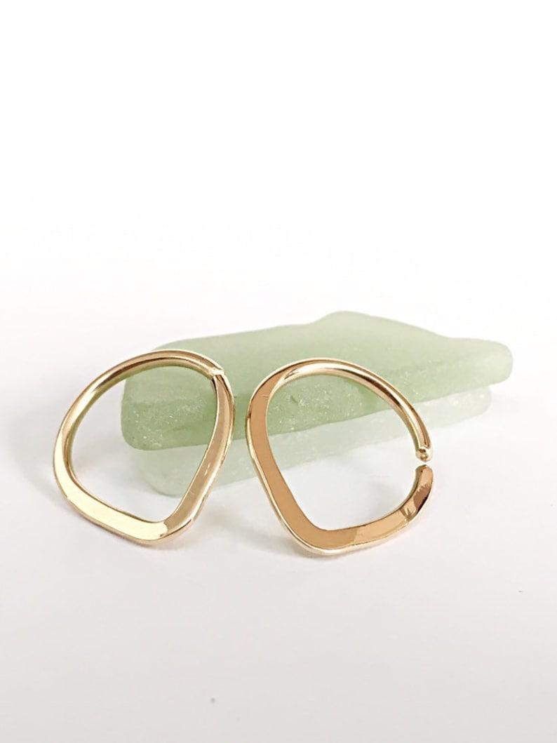 14g Nipple Rings Gold Nipple Jewelry Nipple Piercing Ring image 0