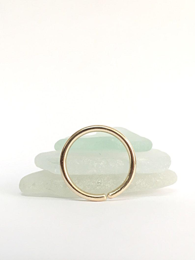 18g Lip Ring Hoop Lip Piercing Jewelry Rose Gold Lip Ring image 1
