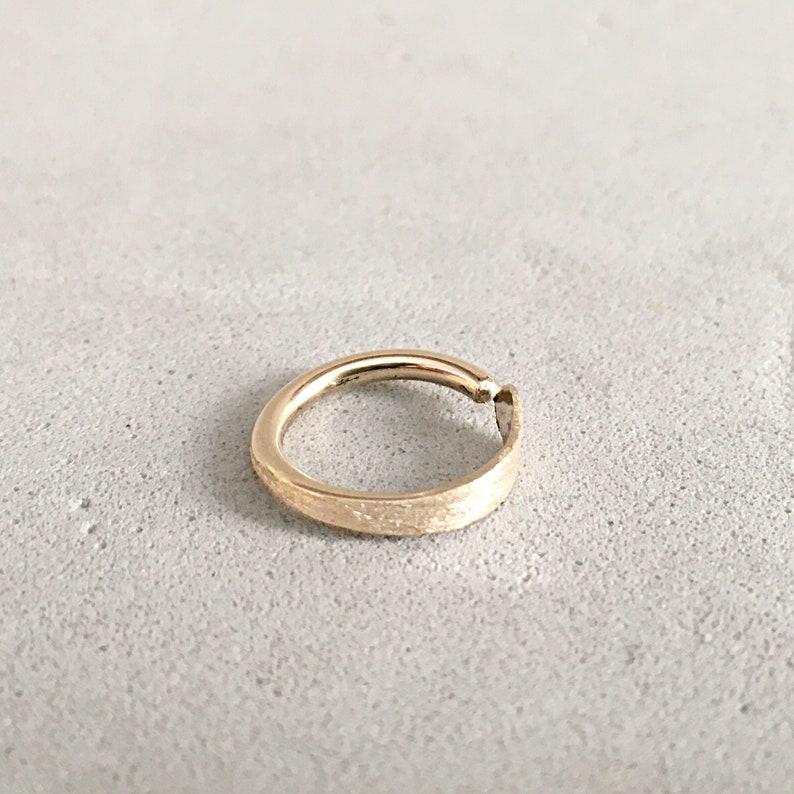Conch Earring Hoop Gold 14K Piercing Piercing Jewelry Hoop Conch Ring Conch Jewelry 16g Conch Piercing Earring Conch Hoop Earring 14g