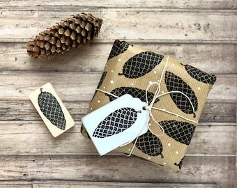 Hand carved rubber stamp pinecone, fir tree cone, DIY, handmade, Christmas decor, Autumn decor