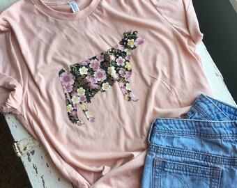 COW | Cow Shirt | Women's Floral Shirt | Farm Shirt