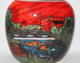 Anita Harris Art Pottery - The Belper Heritage Collection - XL Purse Vase