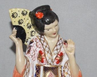 Royal Crown Derby - Geisha Figurine, F477 - Imari 1128 Design - 1933 - vgc