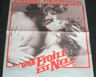French Film Poster - A Star Is Born - Barbra Streisand / Kris Kristofferson
