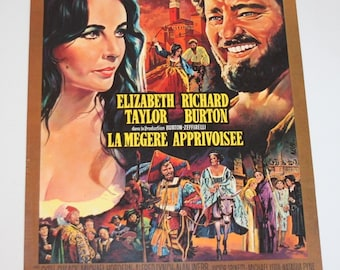 Vintage Belgian Film / Movie Poster - The Taming Of The Shrew - 1967