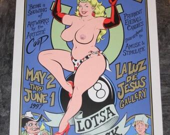 """Chris """"Coop"""" Cooper - Fat Chance Art Show - 1997 Ltd. Ed., Signed Silkscreen Print Poster"""