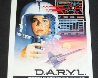 Vintage Belgian Film / Movie Poster - D.A.R.Y.L. - Mary Beth Hurt - 1985