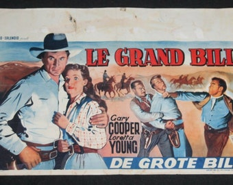 Vintage Belgian Film / Movie Poster - Along Came Jones - Gary Cooper - 1945