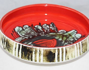 "Poole - Delphis - Stunning 11"" Bowl, Shape 89 - Jean Millership - vgc"