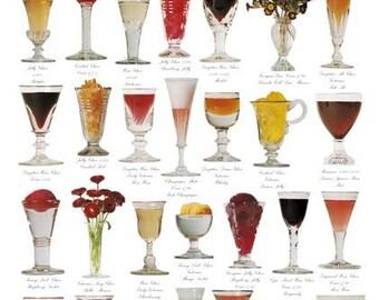 Giftwrap / Poster Print - English Georgian & Victorian Glass - 700 x 500mm
