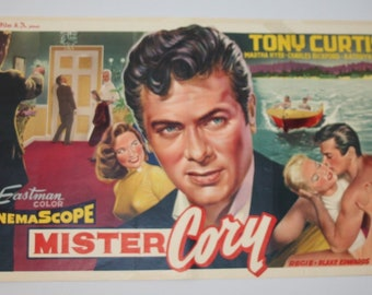 Vintage Belgian Film / Movie Poster - Mister Cory - Tony Curtis - 1957