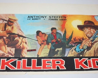Vintage Belgian Film / Movie Poster - Killer Kid - Anthony Steffen - 1967