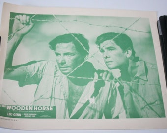 US Lobby Card Film Poster - The Wooden Horse - Leo Genn - 1950