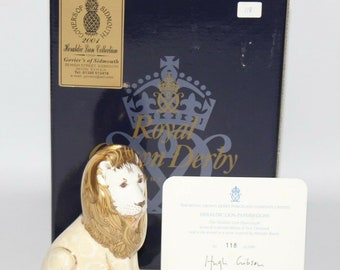 Royal Crown Derby - Heraldic Lion Paperweight - Box/Certificate - vgc