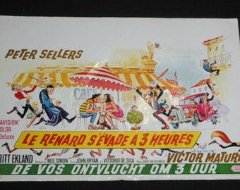 Vintage Belgian Film / Movie Poster - After The Fox - Peter Sellers - 1966