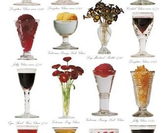 Blank Greetings Card - English Georgian & Victorian Drinking Glasses