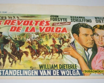 Vintage Belgian Film / Movie Poster - Il Vendicatore - John Forsyth - 1959