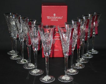 Waterford Crystal - 12 Days of Christmas Flutes Collection - Complete - BNIB