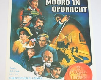 Vintage Belgian Film / Movie Poster - Murder By Decree - 1979