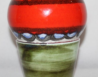 "Poole Pottery - Delphis - 9"" Vase, Shape 83 - Loretta Leigh - 1970"