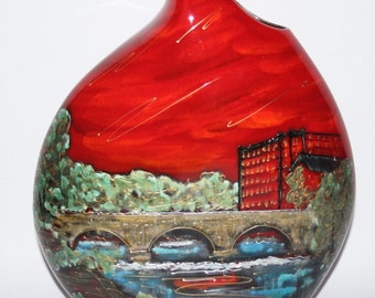 Anita Harris Art Pottery - The Belper Heritage Collection - Large Teardrop Vase