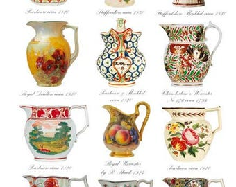 Blank Greetings Card - Jugs 1795-1924